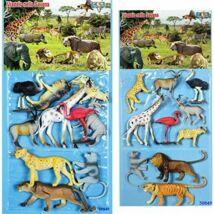 10 Darabos Szafari Műanyag Állat Figurák