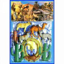 Szafari Állatok Figuraszett