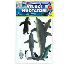 Műanyag Állatszett:  Delfinek, Fókák és Pingvinek