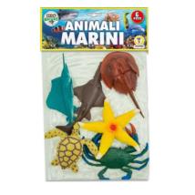 Műanyag Állatszett: Tengeri Állatok 6 db-os