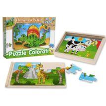 Fatto Di Legno 4 db-os Fa Puzzle, Többféle