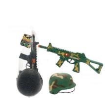 Kommandós Sisak és Fegyver Szett
