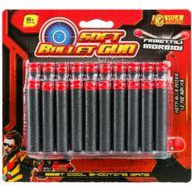 Soft Bullet Gun: Szivacstöltény 20 db-os
