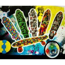 Penny board gördeszka mintás, világító led-es kerékkel