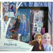 Frozen II. Írószer Készlet és Dekorálható Jegyzetfüzet