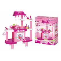 Rózsaszín konyha tartozékokkal