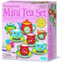 4M Mini Porcelán Teás Kanna és Csésze Díszítő Szett