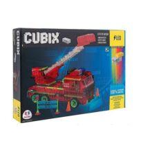 Cubix LED-es Építőjáték - Tűzoltóautó