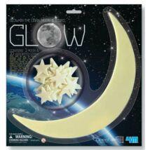 4M Sötétben Világító Hold és Csillag Készlet