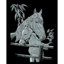 Képkarcoló: Ló a Kicsinyével