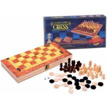 Fa 3 az 1-ben Készlet: Sakk, Dáma, Backgammon