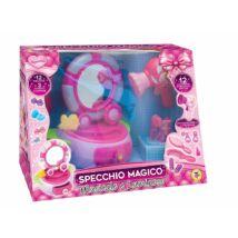 Rózsaszín tükrös ékszer doboz - zenélő világító