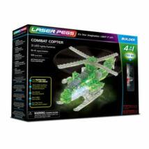 Laser Pegs LED-es építőtőjáték - Helikopter