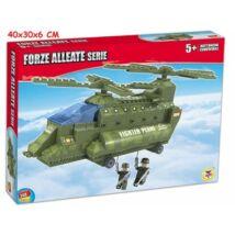 Katonai Helikopter Építőjáték