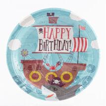 Happy Birthday Papírtányér Cápás, Kalózos