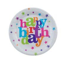 Happy Birthday Papírtányér Csillagos