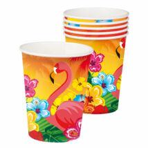 Hibiszkuszos és Flamingós Papírpohár
