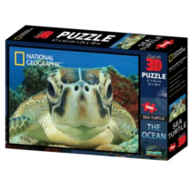 National Geographic 3D Puzzle: Tengeri teknős 500 db