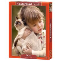 Castorland 500 db-os Puzzle - Kislány cicával