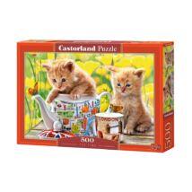 Castorland 500 db-os Puzzle - Teaidő