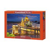 Castorland 2000 db-os Puzzle - Budapesti Kilátás Alkonyatkor