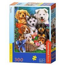 Castorland 300 db-os Puzzle - Kölyökkutyák