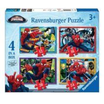 Ravensburger Puzzle: Spiderman / Pókember 4 in 1