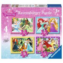 Ravensburger Hercegnők Puzzle 4 in 1