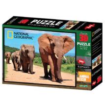 National Geographic 3D Puzzle: Elefántok 500 db