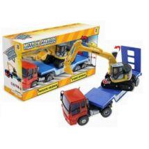 Teorema Szállító kamion markolóval
