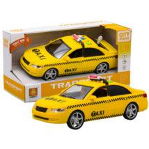 Hangokat Adó és Világító Sárga Taxi