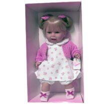 Rauber szőke baba virágos ruhában