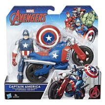 Bosszúállók: Amerika Kapitány figura motorral