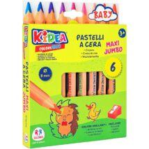 Kidea Maxi Jumbo Színes Ceruza Készlet Hegyezővel
