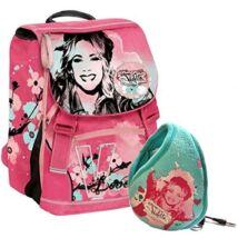 Disney Violetta Gurulós Iskolatáska Ajándék Fülmelegítős Fülhallgató