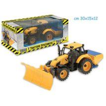 Hókotró- és sózó traktor