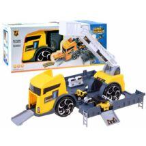 Munkagépeket Szállító Szétnyitható Kamion
