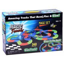Magic Tracks Autópálya Világító Autóval