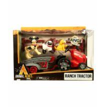 Farm szett: Utánfutós Traktor Állatokkal
