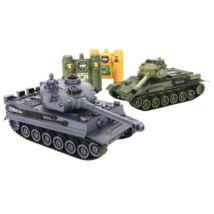 ZEGAN RC Tank 2 Darabos (Tiger I. vs. T-34)