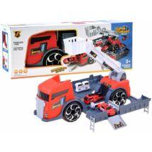 Tűzoltó Járműveket Szállító Szétnyitható Kamion