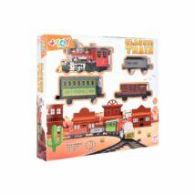 W'TOY Klasszikus western mozdony 3 vagonnal és sínpályával