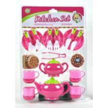 Rózsaszín Teázó Készlet