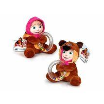 Masha és a Medve bébi plüss maci csörgővel
