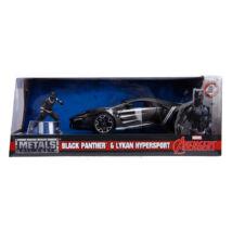 Fekete Párduc Lykan Hypersport Autóval