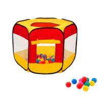 Hatszögletű játszóház labdákkal