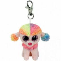 Ty Plüss Kulcstartó: Rainbow a Kutya