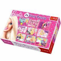 Trefl 3x Story Puzzle Barbie