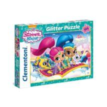 Shimmer és Shine Glitter Puzzle 104 db