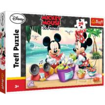 Mickey és Minnie Egér A Tengerparton Maxi Puzzle 24 db-os